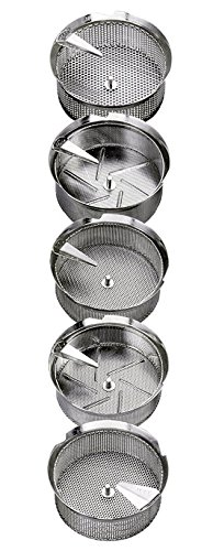 Mouli Food Mill (Tomato Strainer / Crusher) # M5, Tinned Steel, 8 Qt. Capacity by Tellier