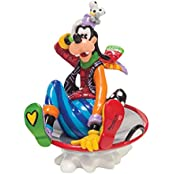 Enesco 4046359 Disney By Romero Britto Goofy In Disc Sled