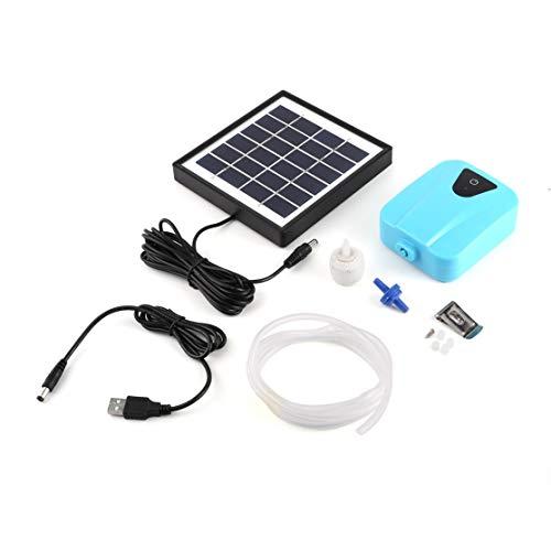 LouiseEvel215 Generador de oxígeno alimentado por energía solar/CC Aerador de agua Con Bomba de oxígeno y agua Con 1 Bomba de aire de aire de Piedra acuática 2 l/min BSV-AP003 -