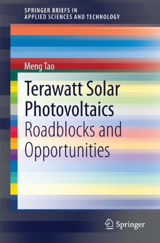 Terawatt Solar Photovoltaics: Roadblocks And Opportunities (springerbriefs In Applied Sciences And Technology) por Meng Tao epub