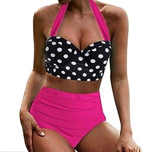 Junjie Frauen Hohe Taille Bikinis Bademode Badeanzug Weibliche Retro Beachwear elegant Umstandsmode Damen Tshirt Basic Damen Tshirt große größe Grün, Schwarz, Rot, Navy