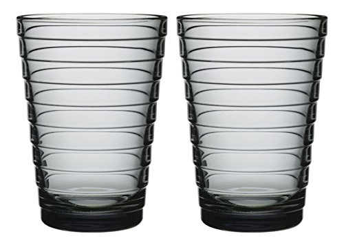Iittala 003719SET Aino Aalto Becher 33 cl, 2-er Set, grau