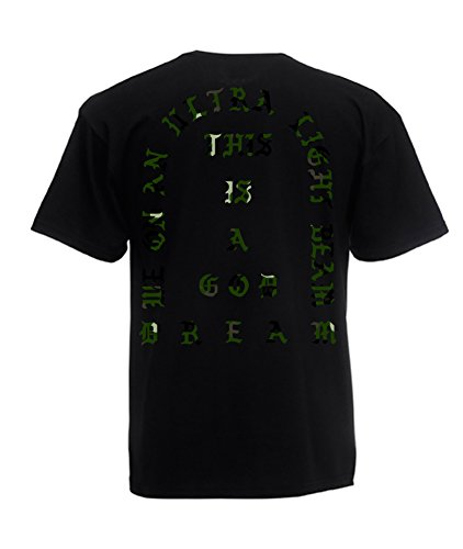 TRVPPY Herren T-Shirt THIS IS A GOD DREAM / Camouflage Aufdruck / in vielen versch. Farben / mit Rücken -und Brustaufdruck / Gr. S-5XL Camo-Schwarz