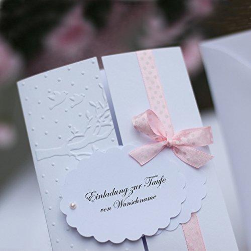 10 Einladungskarten Einladung Taufeinladung Taufe Konfirmation Kommunion Mädchen Handarbeit binnbonn