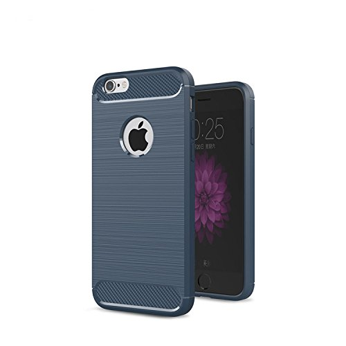 iPhone 5s Case, iPhone SE Case, [Nutbro] [Slim Thin] Premium Silicone [Shock Absorption] Protective Fitted Case Cover for iPhone 5/5s/SE 4 inch Dark Blue