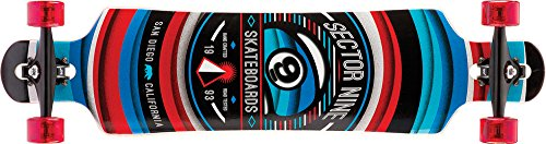 Sector 9 Longboard Meridian Complete, Red, 9.75 x 40.0 Zoll, CS153Cred