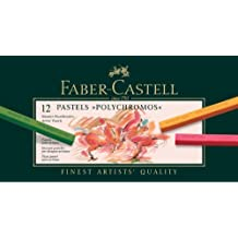 Faber-Castell 128512 - Pastellkreide Polychromos, 12er Etui