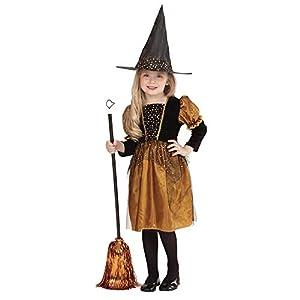 WIDMANN 0019S - Traje Niño pequeña bruja, sombrero, tamaño 116, multicolor