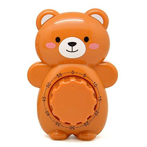 Creative Kitchen Timer 60 Minuten Countdown Timer, Vegtable Mechanical Roating Wecker Alarm Alarm Reminder Größe S Brown Bear