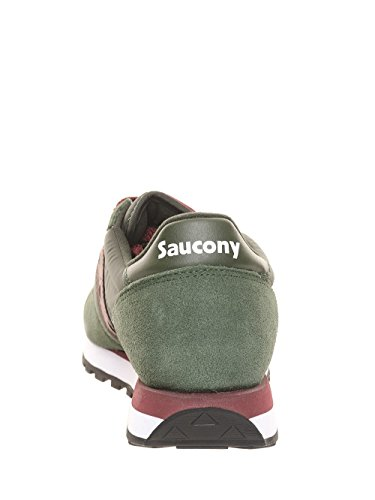 Sneaker Saucony Jazz in suede e nylon grigio VERDE/BORDEAUX