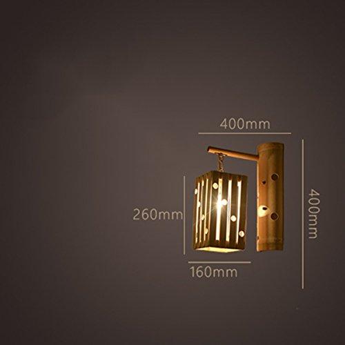 ZPSPZ Wand Lampe Retro - Kreative Persönlichkeit Antiken Japanischen Bambus - Lampe Im Treppenhaus Bar Lichter Inn Hostel,Sechs