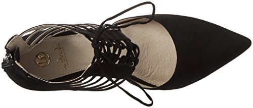 La Strada 9094, Sandales  Bout ouvert femme Noir - Schwarz (2201 - micro black)