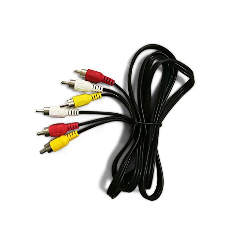 Unicoco Audio- und Videokabel Cinch-Stecker auf 3 Cinch-Stecker, Schwarz Schwarz Schwarz 5 m