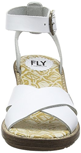 Fly London - Cera634fly, Sandali Donna Bianco (Off White (OFFWHITE))