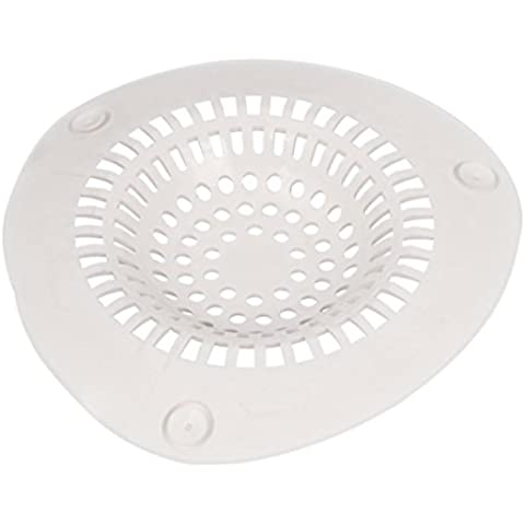 asentechuk® Silicone Sewer Sink Drain Strainer capelli Catcher Stopper Filtro Net cucina bagno forniture, Silicone, (Bianco Sink Stopper)
