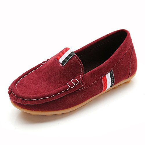 Eagsouni® Filles Garçons Confort Glisser Sur Suède Cuir Mocassins Flâneurs Chaussures