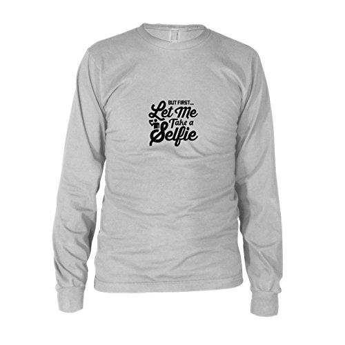 Let me Take a Selfie - Herren Langarm T-Shirt, Größe: XXL, Farbe: Weiß