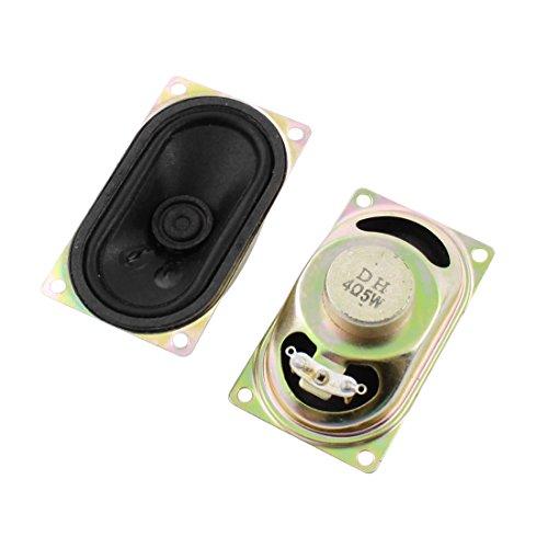 Sourcingmap® 2Stk Rechteckig Metall Gehäuse TV Magnet Lautsprecher Amplifier 5W 4 Ohm 71x41mm de