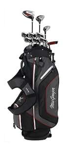 MacGregor DX Plus Golfschläger-Set, Stahl/Graphit schwarz Schwarz/Rot Pack of 11