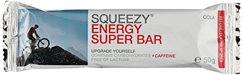 Squeezy Sports Nutrition Energy Super Bar, Cola / Koffein, 3 Stück, 1er Pack (1 x 150 g)
