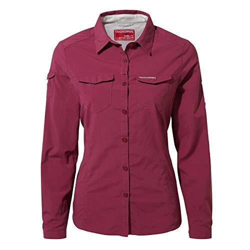 Kurzarm-shirt Reiten (Craghoppers NosiLife Womens Adventure II Long Sleeved Shirt, 16 UK Damen, Amalfi Rose 6FW)