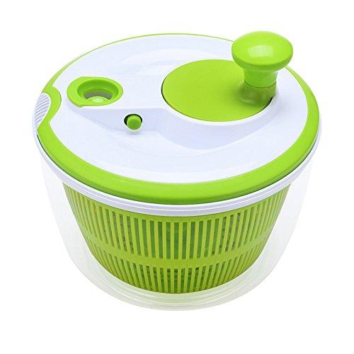 Salat Spinner Mit Ausgiesser, Obst Und Gemüse Trockner Schnelltrocknendes Design BPA Free Dry Off & Amp;