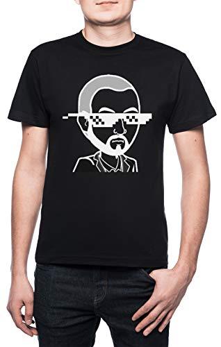 MudRacing Sonnenbrille - Mudracing Herren T-Shirt Rundhals Schwarz Kurzarm Größe XL Men's Black X-Large Size XL