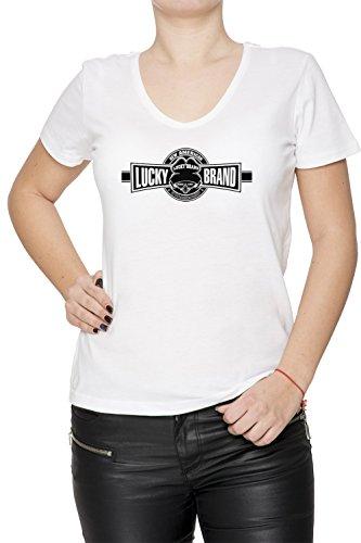 lucky-brand-blanco-algodon-mujer-v-cuello-camiseta-mangas-white-womens-v-neck-t-shirt
