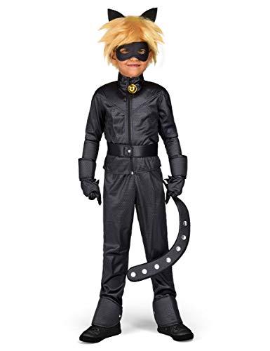 Generique - Coffret déguisement Chat Noir Miraculous Enfant 4 à 5 Ans
