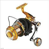 ZRWL Sistema de Frenos de Arrastre Doble Delantero y Trasero Baitrunner Reel 9 + 1 Inoxidable BB para Agua Salada o de Agua Dulce, Spinning Fishing Reel (Tamaño : 9000)