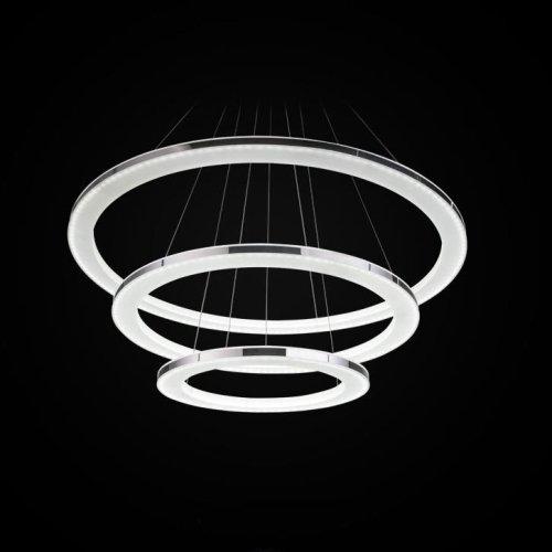 Modernen LED Kronleuchter, 3-Ringe Anhänger LED-Licht Deckenleuchte - 4