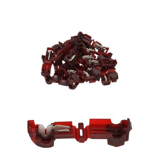 25 Stück T-Abzweigverbinder / Schnellverbinder / Stromdieb rot 0,5 -1,5qmm -