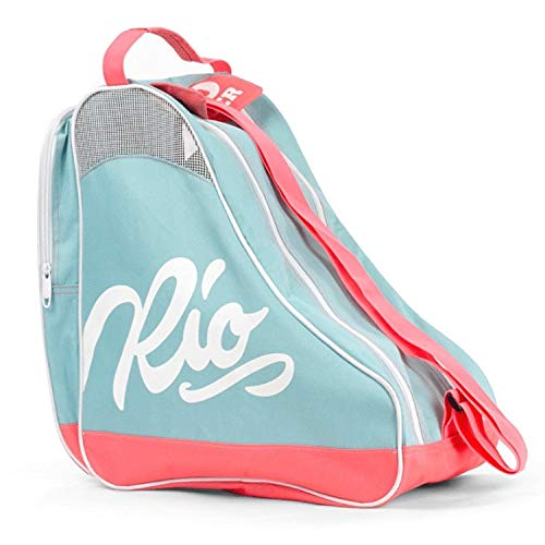 Rio Roller Unisex-Erwachsene Script Skate Bag Stofftasche, Mehrfarbig (Teal/Coral), 24x15x45 centimeters (Inline Skate Bag)