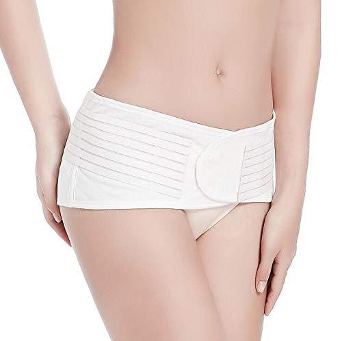 WXFC Korrekturgürtel für das Becken der Frau, Gesäß für Bauchernte, Rehabilitationsgürtel nach der Geburt, Puder/weiß,Weiß,S