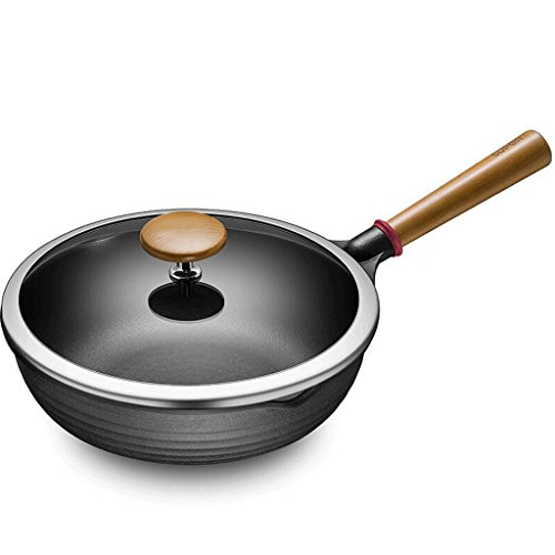 ZHAOJNG Wok Cocina 28 Pan antiadherente Sin humo