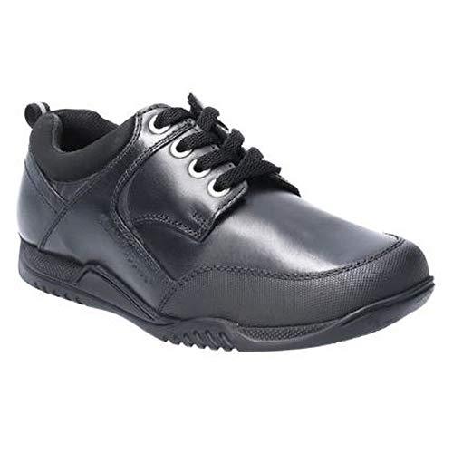 Hush Puppies Dexter Jnr, Zapatos para Uniformes de Escuela para Niños, Negro, 32.5 EU