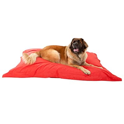 DogBagz GIANT Dog Bed 180cm x 140cm - 100% Water Resistant Dog Bean Bags RED - No Dog Too Big