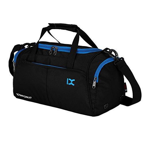 Suzone Oxford fitness bag Leisure borsa messenger bag borsa da palestra borsone sportivo borsone da viaggio con scomparto per scarpe, donna, Black Black
