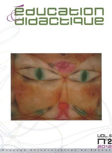 Education & didactique, Volume 6 N2 Novembr : Education et didactique 6 2