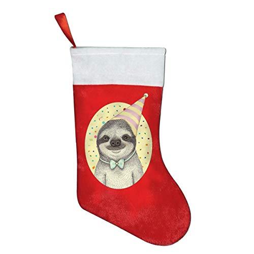 Cvdgsad compleanno sloth classico natale calze natalizie sacchetti regalo sacchetti regalo decorazioni natalizie babbo natale socks candy bags rosso