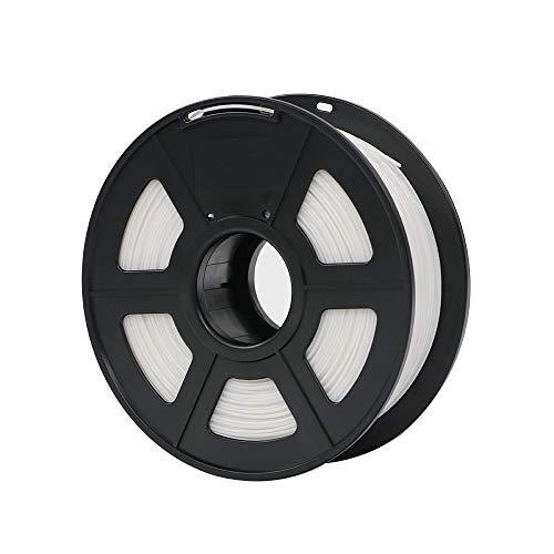 Fan-ming-n-3d, materiale stampante, filamento pla, 1,75 mm, plastica per stampante 3d, 1 kg, rotolo da 28 colori, per mega i3 bianco