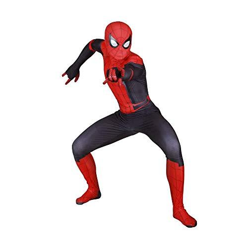 GYJVBFS Erwachsene Kinder Spider-Man 3D Spider-Man Strumpfhose Digitaldruck Spandex Dress Up Zentai Realistische Comics Halloween Cosplay Kostüm A-Child/M,B Adult\/XXXL (B&m Halloween Kostüme)