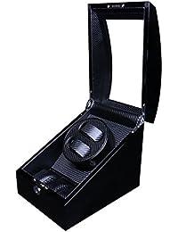 Lindberg & Sons LSWW8046B - Estuche con rotor para relojes,2 compartimientos, color negro