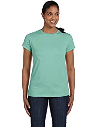Hanes Womens Relaxed Fit Jersey ComfortSoft® Crewneck T-Shirt L Green