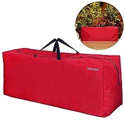 Nicexmas Aufbewahrungstasche Für Kunsttannen Groß Für Bäume Spritzguss Weihnachtsbaum Nordmanntanne Douglasie Künstlicher Weihnachtsbaum (Rot)