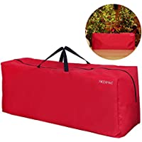 NICEXMAS Christmas Tree Storage Bag for Artificial Tree Christmas Decoration with Handles (Red) (135cm x 38cm x 54cm)