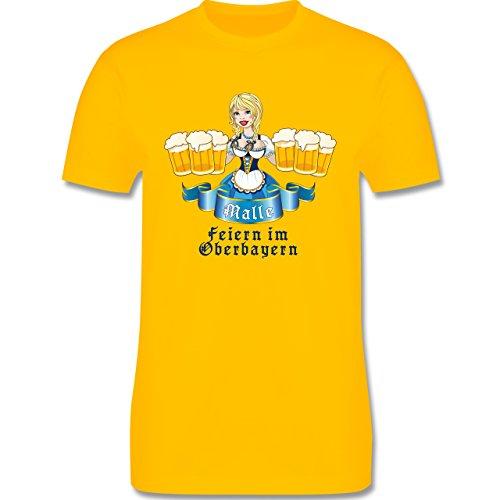 Urlaub - Malle Bier Oberbayern - Herren Premium T-Shirt Gelb