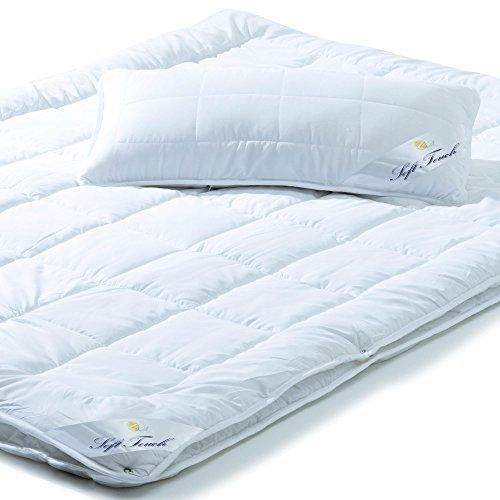 aqua-textil Bettdecken Set 4 Jahreszeiten 135x200 inkl. 1x Kopfkissen 40x80, Steppdecke für Winter und Sommer, Mikrofaser Steppbetten-Set, Öko Tex, waschbar 95 Grad, Soft Touch 0011639