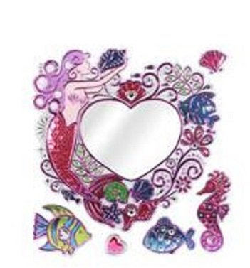 Accessoire Top Tendance Vrai Miroir Mural Décoration Princesse Stickers pour Chambre ou Salle de Bain Enfant Fille (Sirene)...