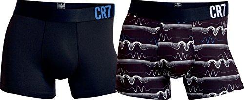 CR7 Cristiano Ronaldo Fashion Boxershorts Microfaser Herren 2-Pack (CR7-8502-4900-411-S)